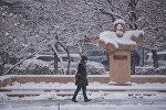 Бишкекте жааган кар. Архивдик сүрөт