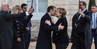 Франция президенти Эммануэль Макрон жана Германиянын канцлери Ангела Меркель. Архивдик сүрөт
