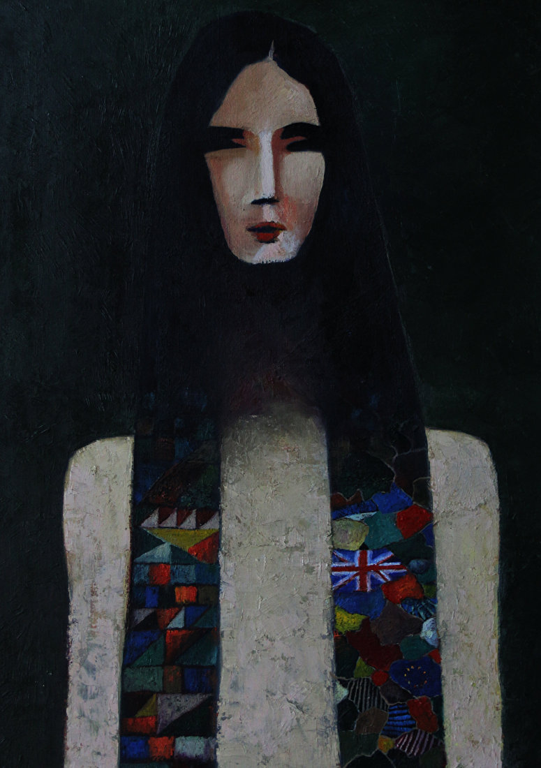 Картина Истоки кыргызского художника Максата Болотбекова