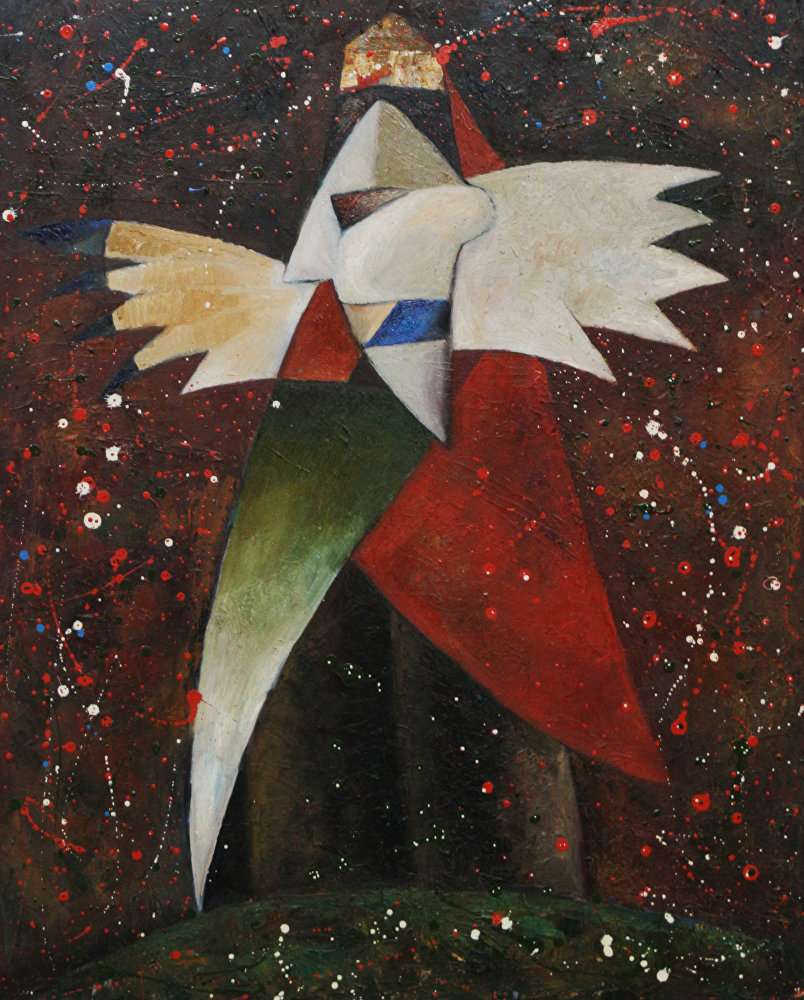 Картина Крик души кыргызского художника Максата Болотбекова