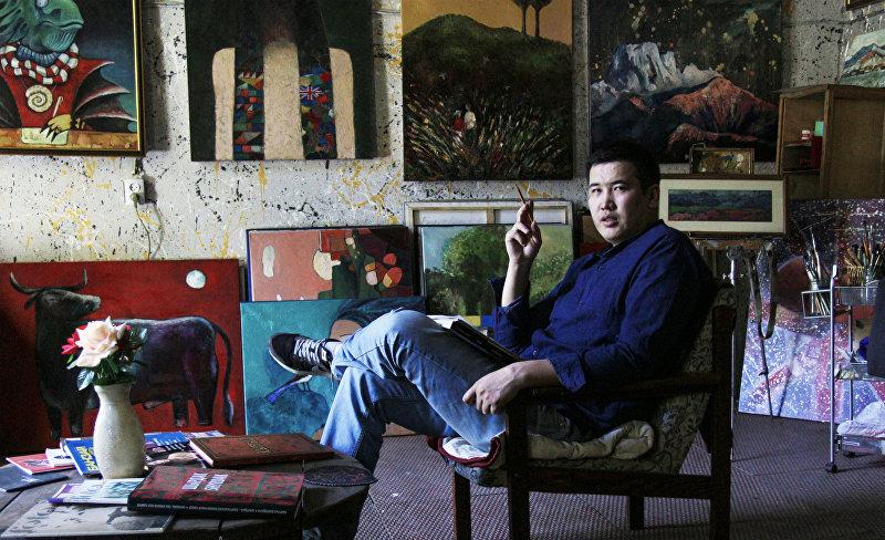 Кыргызский художник Максат Болотбеков