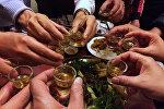 Посетители распивают алкогольные напитки в ресторане. Архивное фото