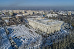 Вид с дрона на здание Жогорку Кенеша в Бишкеке. Архивное фото