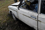 Поврежденный в ДТП автомобиль. Архивное фото
