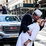 Парад в честь Дня ветеранов в Нью-Йорке