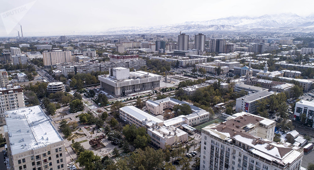 Вид на центр города Бишкек. Архивное фото