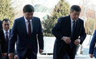 Президент Кыргызстана Сооронбай Жээнбеков проводит встречу с бывшими премьер-министрами и экс-спикерами страны