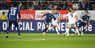 Товарищеский матч сборной Кыргызстана по футболу со сборной Японии на стадионе Toyota Stadium в городе Тойота