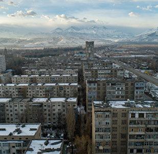 Вид с дрона на 10 микрорайон Бишкека. Архивное фото