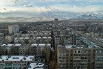 Вид с дрона на 10 микрорайон в Бишкеке. Архивное фото