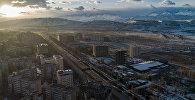 Вид с дрона на Бишкекский микрорайон Асанбай. Архивное фото