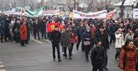 В пешем марше против терроризма и экстремизма в Оше приняли участие около 9 тысяч человек