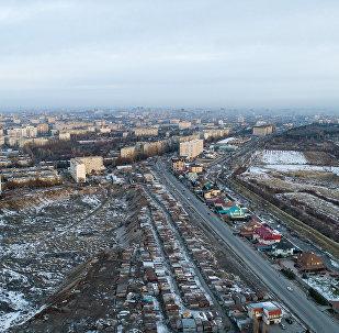 Вид на утренний Бишкек