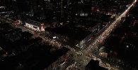 Черная пятница в Бишкеке — аэросъемка пробок у ТРЦ