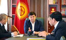 Премьер-министр Мухаммедкалый Абылгазиев во время совещания. Архивное фото