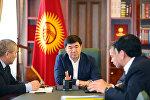 Премьер-министр Мухаммедкалый Абылгазиев кардын калың жаашына жана абанын температурасынын төмөндөшүнө байланыштуу республиканын унаа жолдорундагы кырдаал боюнча кеңешме өткөрдү