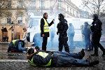 Франциянын түндүгүндө жети полиция кызматкери каршылык акциясына чыккан жарандар тарабынан жаракат алышты