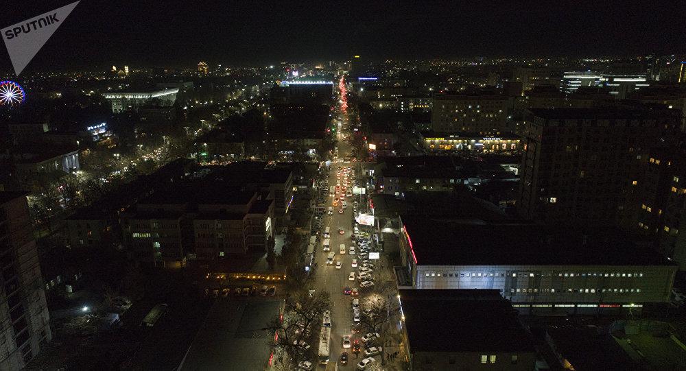 Бишкек түндө. Архивдик сүрөт