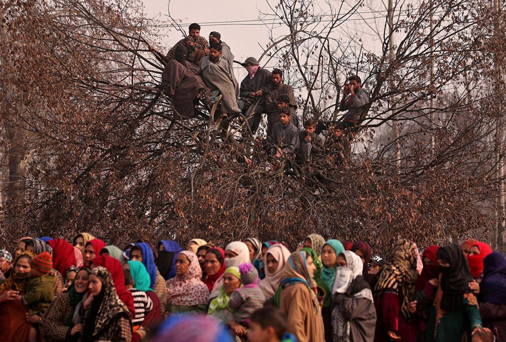 Похоронная церемония в индийской деревне Батнур