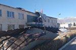 Последствия сильного ветра в Балыкчи