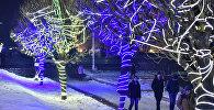 Новогоднее оформление Бишкека. Архивное фото