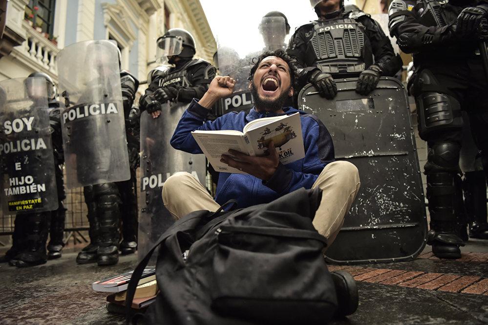 Акция протеста в Эквадоре