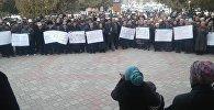 В Баткене сторонники Мелиса Калыкова, обвиняемого в убийстве прокурора области Анарбая Мамажакыпова