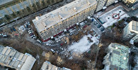 Вид с дрона на жилые дома в 7 микрорайоне Бишкека. Архивное фото