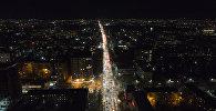 Вид с дрона на ночной Бишкек. Архивное фото