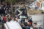 Стамбулдун Санжактепе аймагында машыгуу иштерин жүргүзүү үчүн учуп бараткан тик учак кулап түшкөн