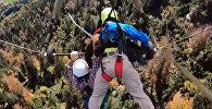 Как полет на дельтаплане ради забавы превратился в борьбу за жизнь. Видео