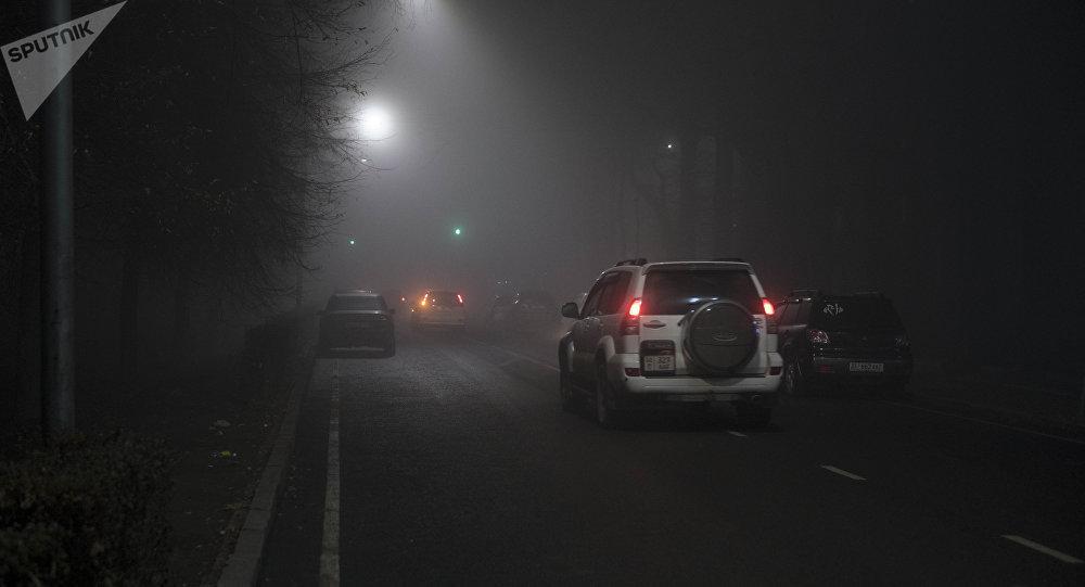 Густой туман в Бишкеке. Архивное фото