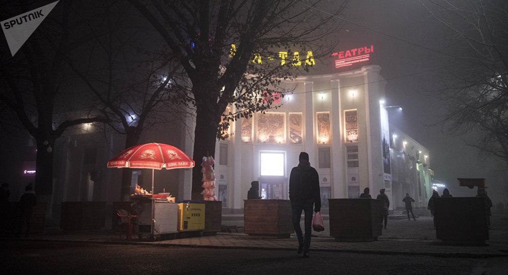 Бишкектеги Ала-Тоо кинотеатры. Архивдик сүрөт