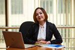 Страновой координатор гендерных программ ПРООН Умутай Даулетова на рабочем месте
