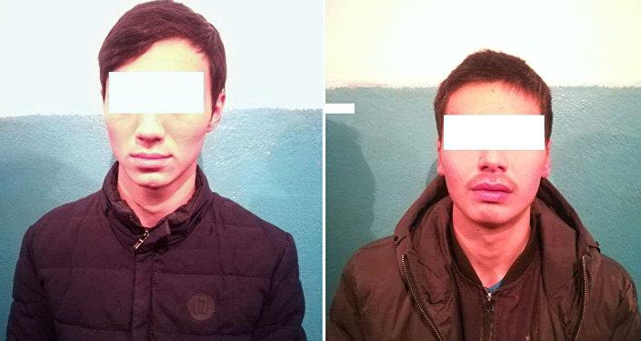 Задержание подозреваемых в разбое в Бишкеке