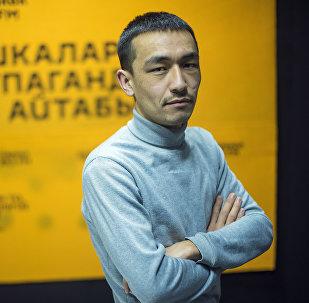 Корреспондент информационного агентства и радио Sputnik Кыргызстан Мирбек Сакенов. Архивное фото