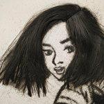 А на этом портрете изображена юная девушка