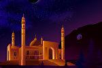 Центральная мечеть и Сулайман-Тоо в Оше на иллюстрации отечественного дизайнера Жетигена Такенова