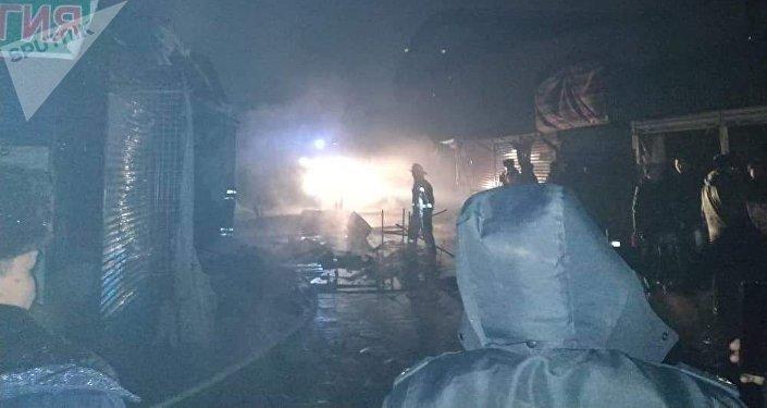 Четвертый крупный пожар на Ошском рынке