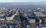 Вид с дрона на Бишкекский микрорайон Аламедин-1. Архивное фото
