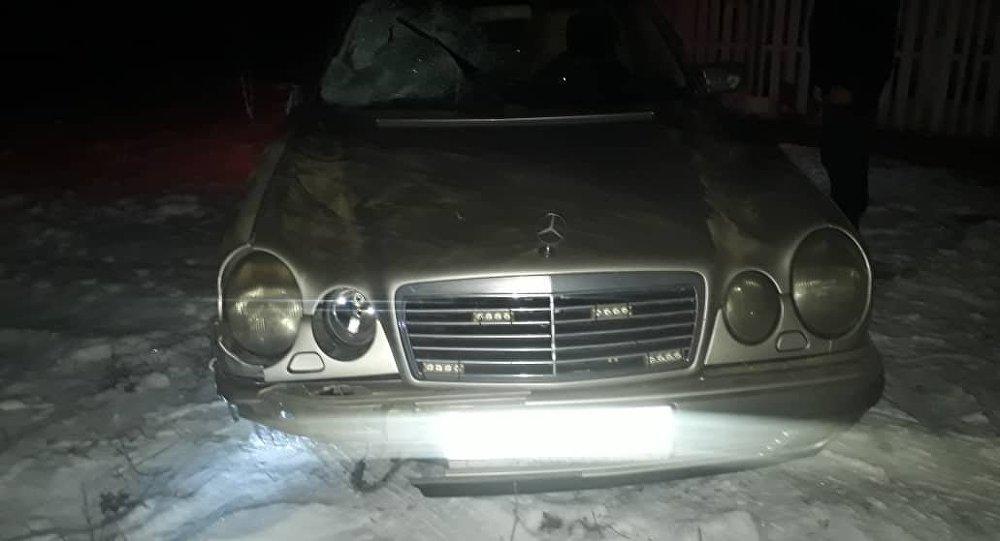 Машина на которой был совершен автонаезд на пешехода на 33-м километре дороги возле села Красная Речка