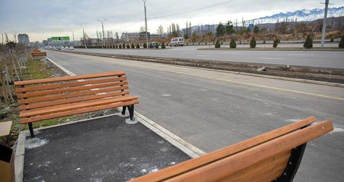Тротуар менен веложолдун туурасы 4,5 метрди түзөт