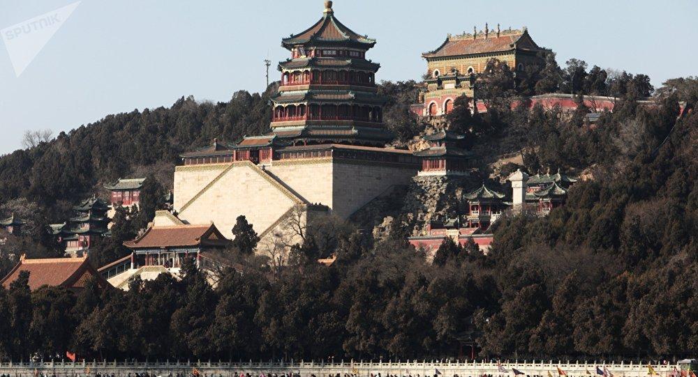 Пекин шаарындары туристер. Архив