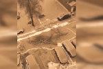 В Китае на видео сняли грязный снег — такой же выпал на Иссык-Куле. Фото