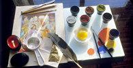 Инструменты и материалы художника. Архивное фото