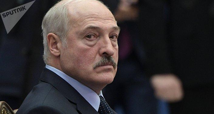 Президент Белоруссии Александр Лукашенко на заседании Высшего Евразийского экономического совета в расширенном составе.