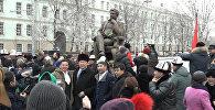 Как в Москве открыли памятник Чингизу Айтматову. Видео
