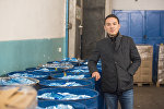 Кыргызстандык жаш ишкер, Азиянын экоазыктары компаниясынын негиздөөчүсү Дастан Өмүралиев. Архив