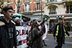 Франциянын борбор калаасында сары кемселчендердин нааразычылык акциясы