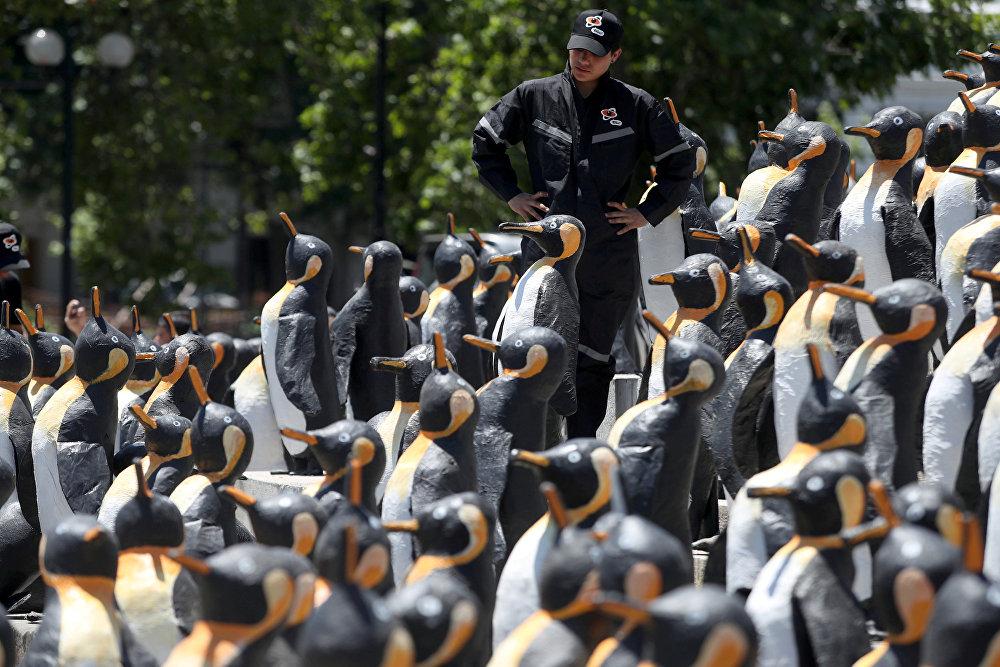Сантьяго (Чили) шаарында экологияга арналган кампания өттү